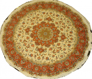 Иранский ковер из шерсти с шелком Медальон ОГ85WSC