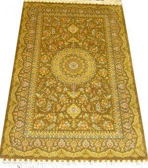 Турецкий ковер из шелка Медальон ОГ20SS