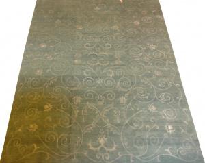 Индийский ковер из шерсти с вискозой Индонепал 520 B.BL ОГ37WV