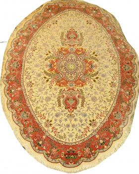 Иранский ковер из шерсти с шелком Медальон AL58SWS