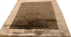 Индийский ковер из шерсти с артшелком Graphite grey ОГ5639WAsC