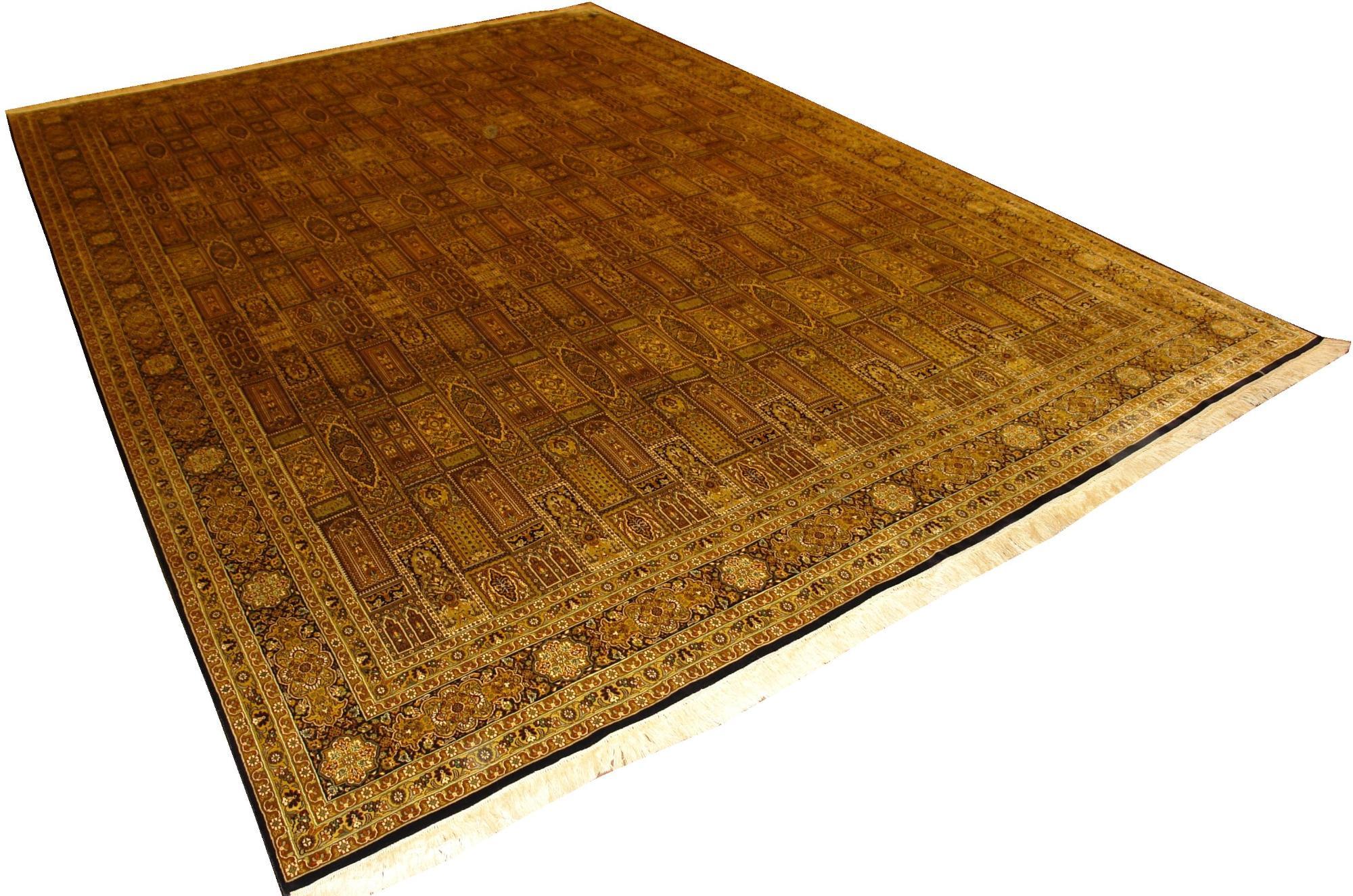 Индийский ковер из шелка Кум ОГ121SS
