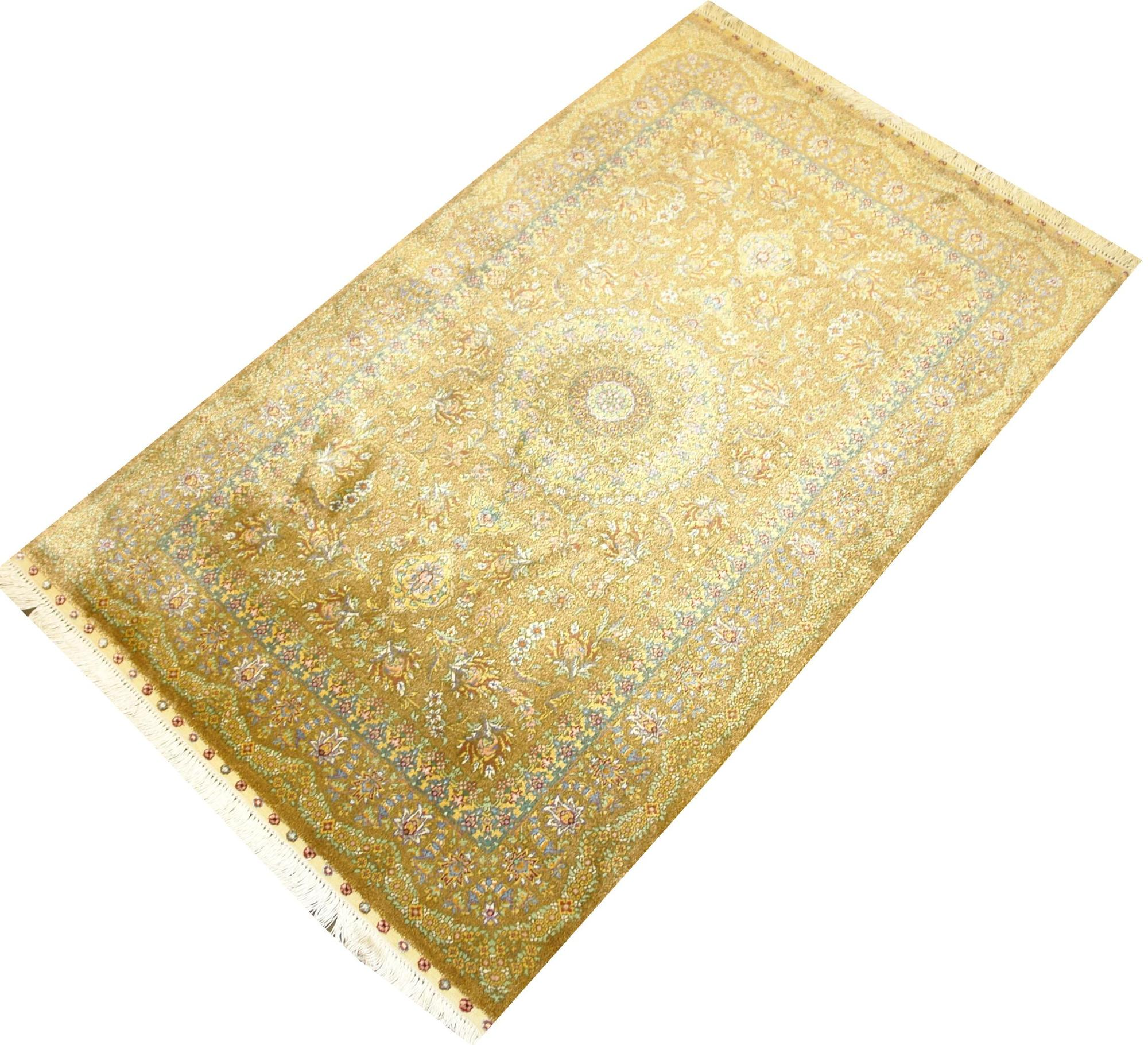 Турецкий ковер из шелка Медальон ОГ19SS