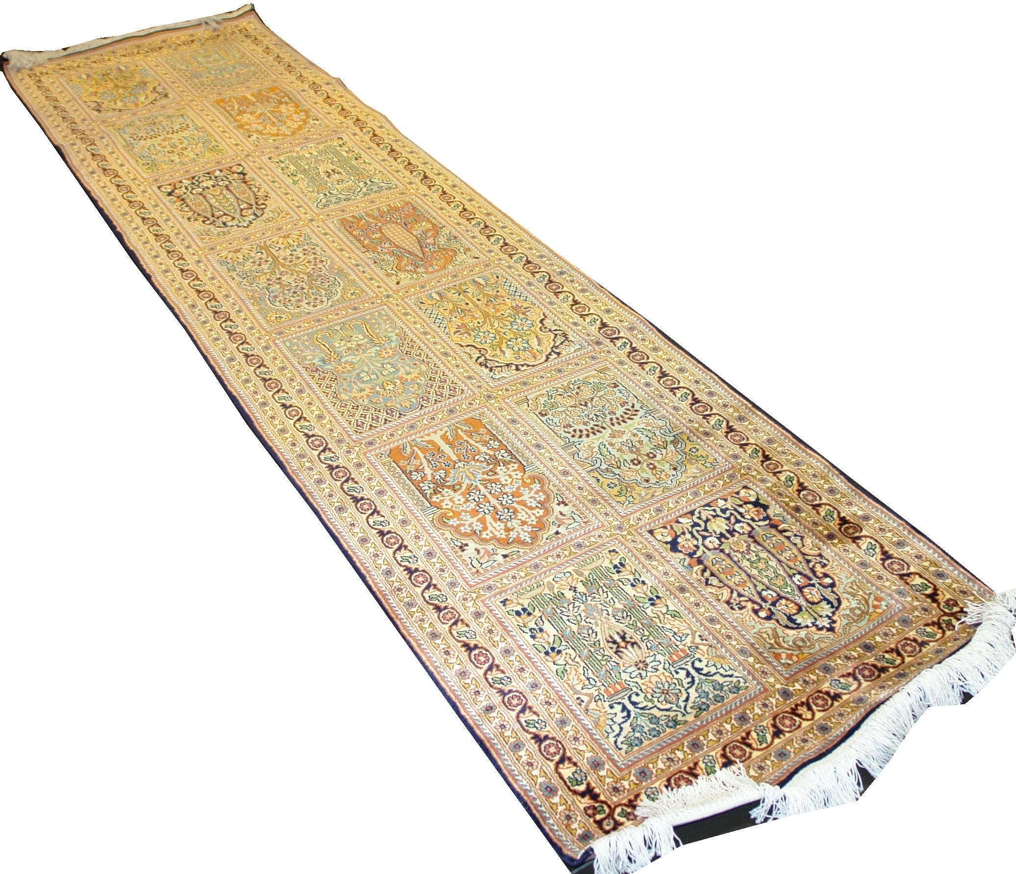 Индийский ковер из шелка Рабадан ОГ45SC