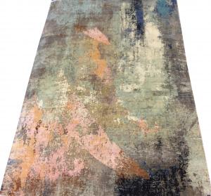 Индийский ковер из шерсти с шелком Абстракция ОГ7SW