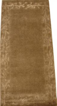 Индийский ковер из шерсти с артшелком Grey ОГ5589WAsC