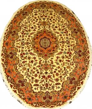 Иранский ковер из шерсти с шелком Медальон ОГ60WSC
