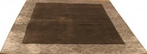 Индийский ковер из шерсти с артшелком Graphite grey ОГ5643WAsC