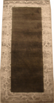 Индийский ковер из шерсти с артшелком Graphite grey ОГ5621WAsC