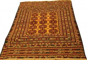 Афганский ковер из шерсти Килим ZОГ166WW