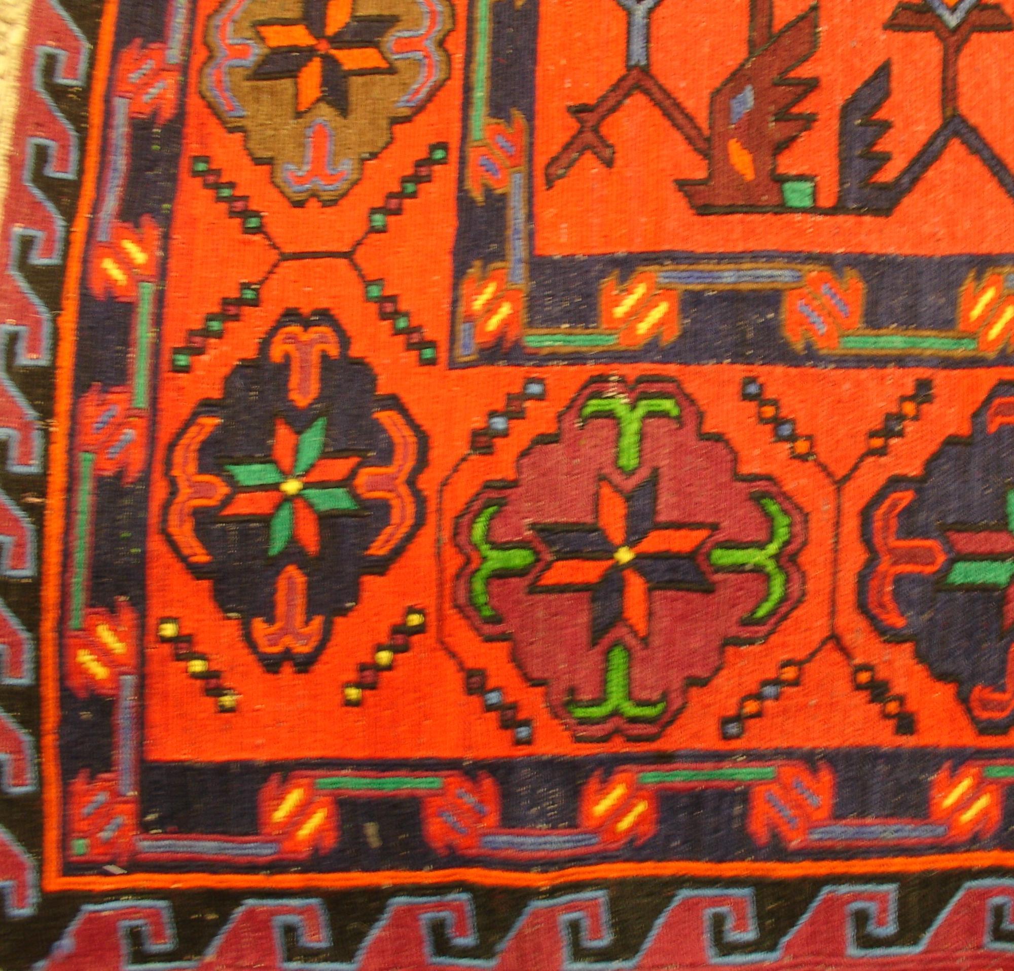 Дагестанский ковер из шерсти Сумах Д34WW