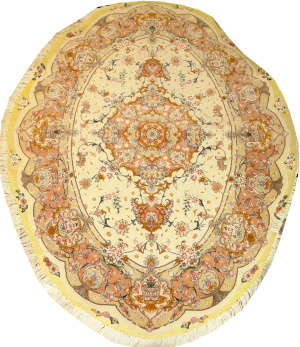 Иранский ковер из шерсти с шелком Медальон AL46WSC