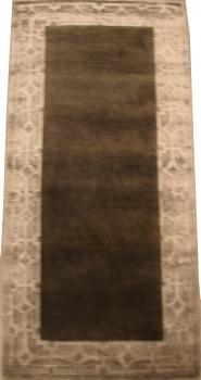 Индийский ковер из шерсти с артшелком Graphite grey ОГ5618WAsC