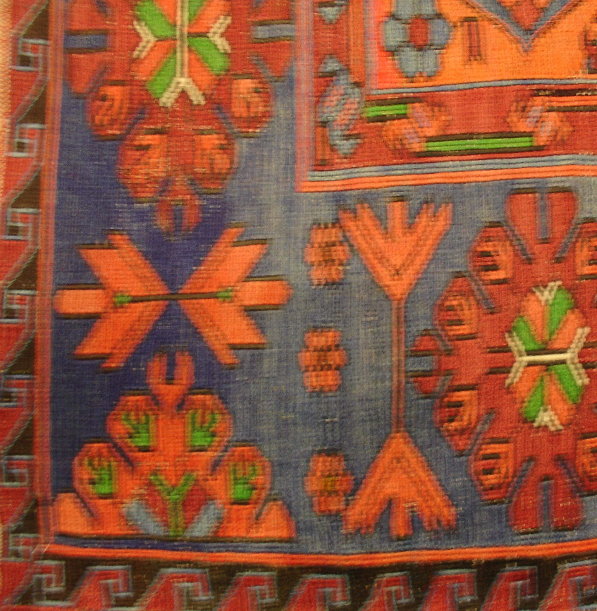 Дагестанский ковер из шерсти Сумах Д27WW