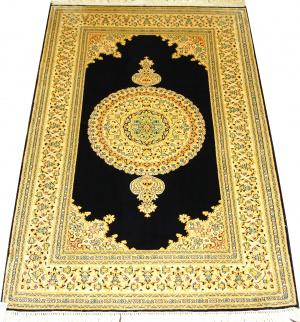 Индийский ковер из шелка Медальон ОГ66SS