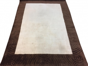 Индийский ковер из вискозы Carving White/Brown ОГL64V