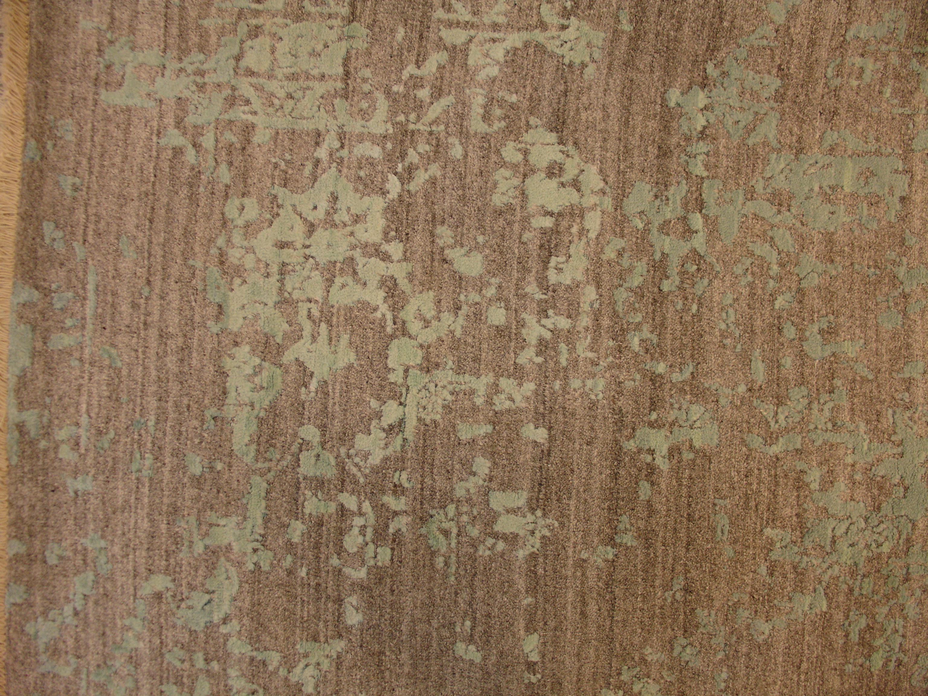 Индийский ковер из шерсти с шелком Модерн ОГ71АЮWSC