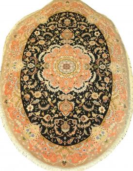Иранский ковер из шерсти с шелком Медальон AL47WSC