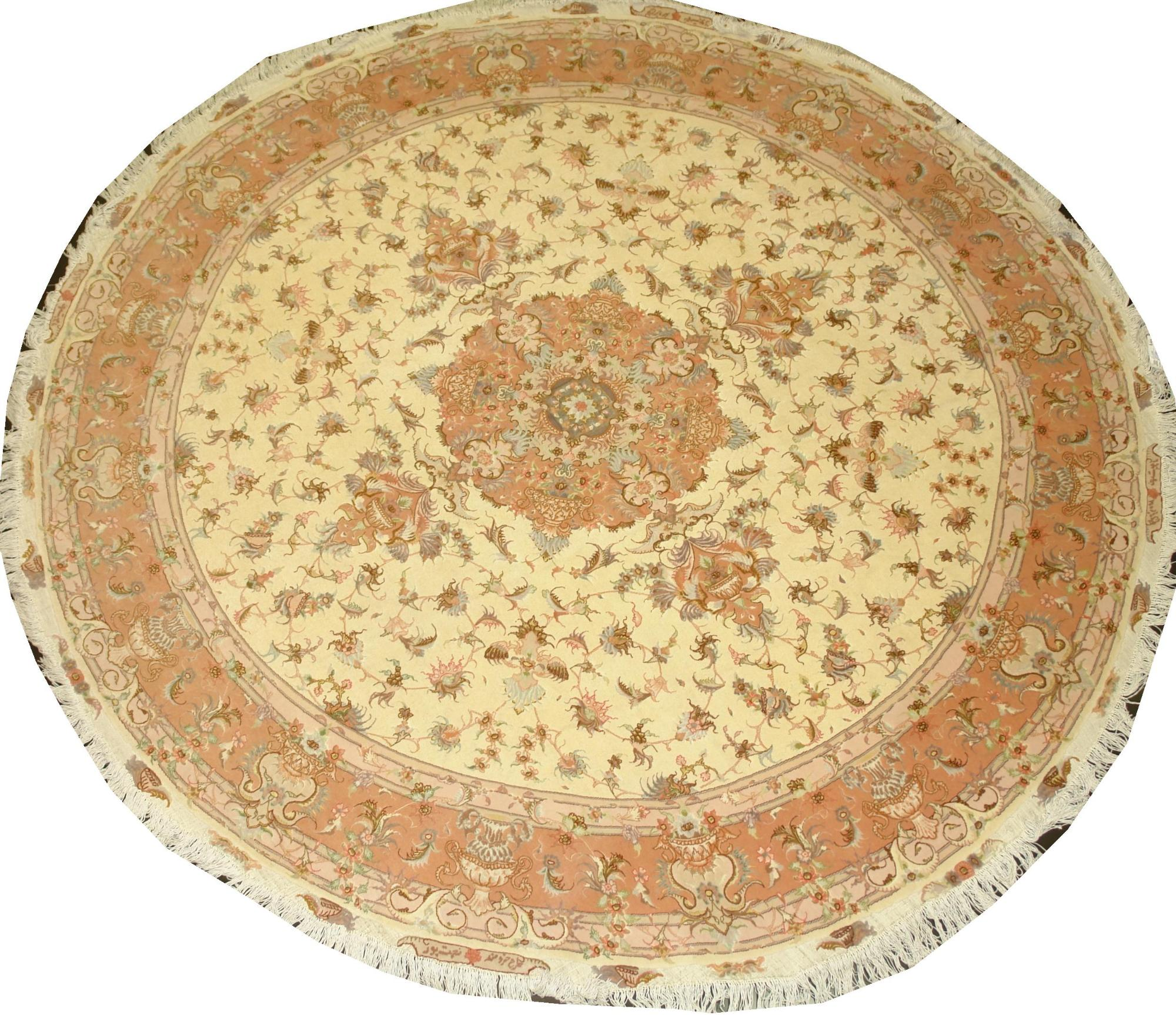 Иранский ковер из шерсти с шелком Медальон ОГ91WSC