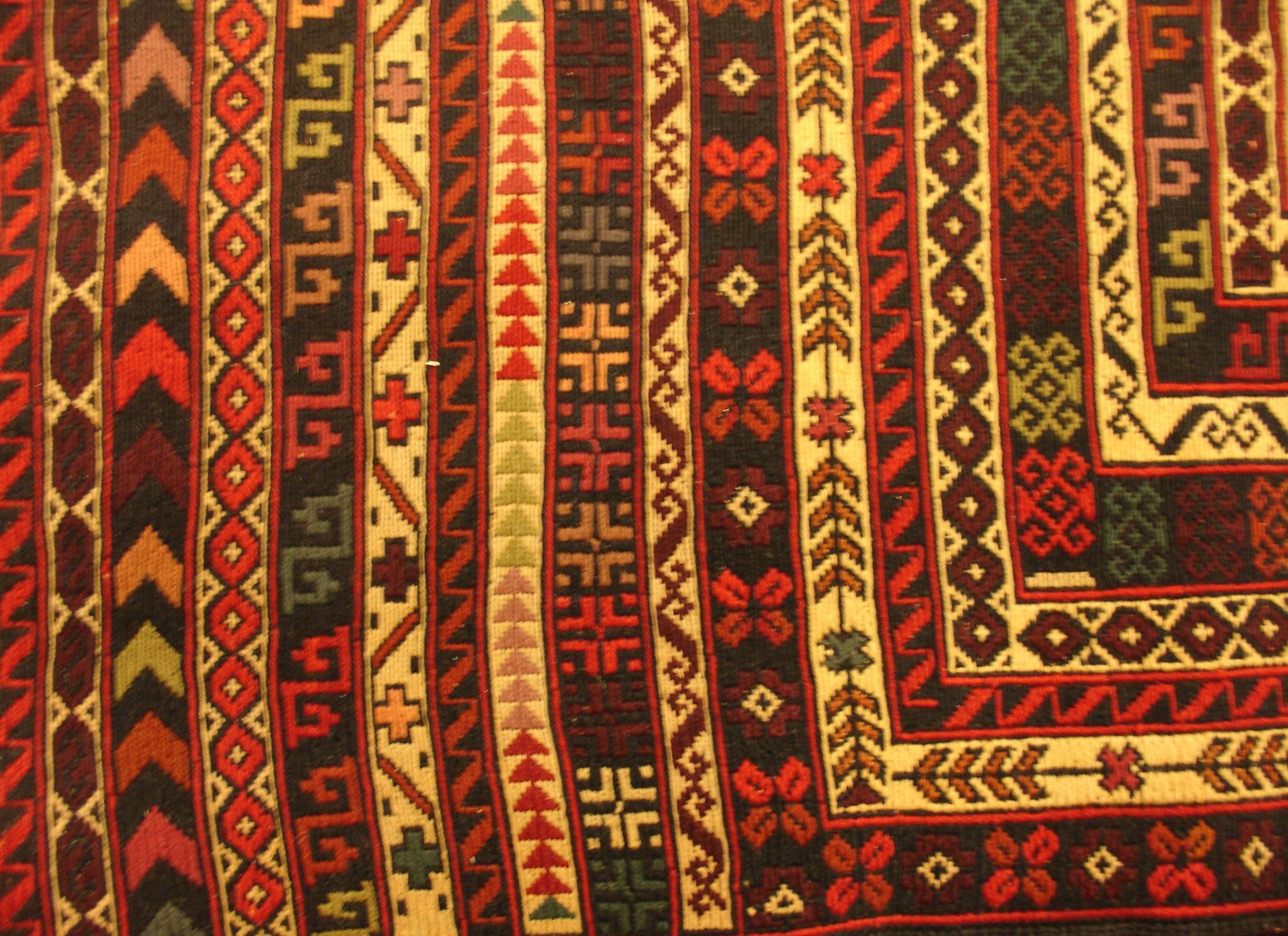 Афганский ковер из шерсти Килим ZОГ173WW