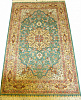 Турецкий ковер из шелка Медальон ОГ4SS